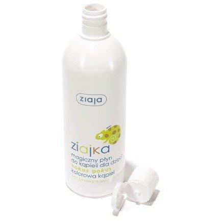 Ziaja - Ziajka - Magiczny PŁYN do kąpieli Hokus Pokus, kolorowa kąpiel dla dzieci od 12 miesiąca życia, 400 ml.