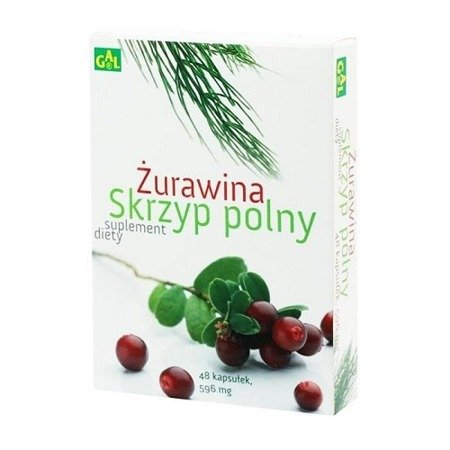 Żurawina i Skrzyp polny, 48 kapsułek.